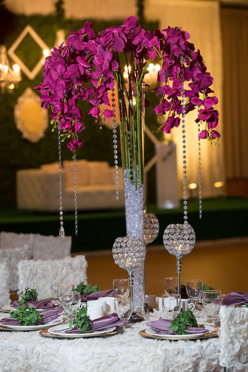 south asian wedding, wedding decor, table setting, centerpiece