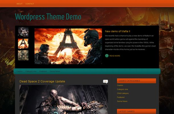 Orange Games WordPress Thème
