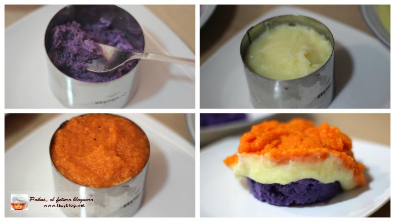 Lazy blog receta de pur tricolor - Pure de patatas y calabaza ...