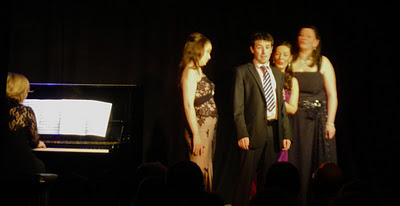 NI Opera's Young Artists performing Some Enchanted Evening at the Out to Lunch Festival 2012 in Belfast's Black Box