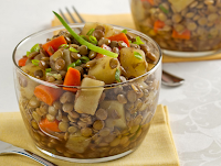 Salada de Lentilha com Legumes (vegana)