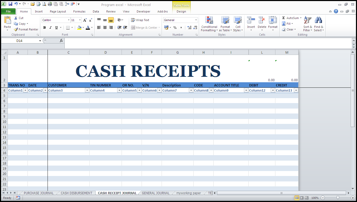 Free cash receipt template healty living guide