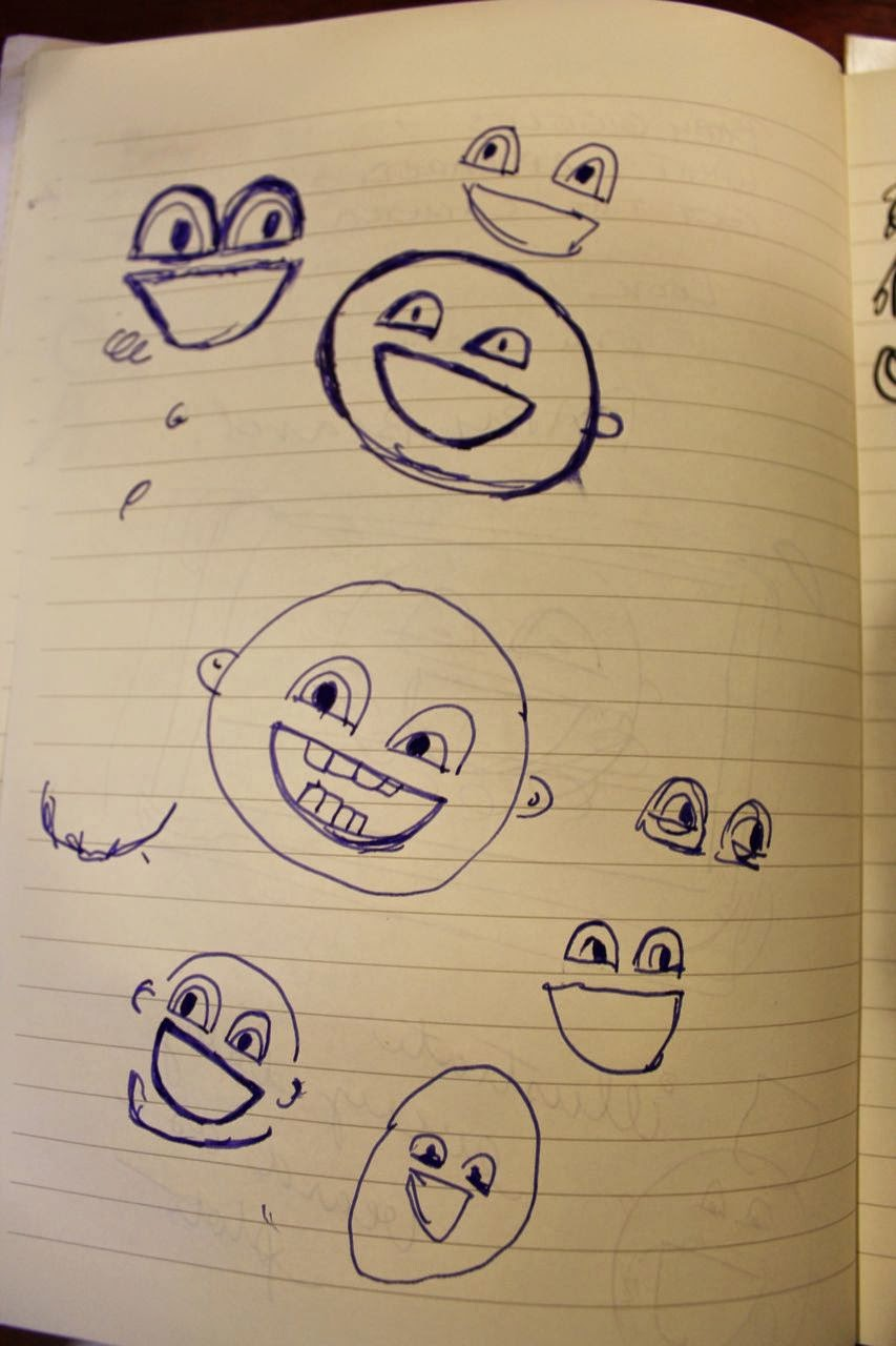 Silly Baby Face Sketches for Baby Beards! via www.ericvr.com