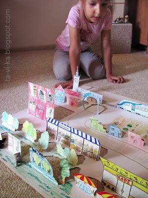 макет города из бумаги
