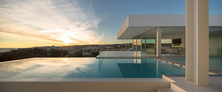 Sunset from Modern Villa Escarpa by Mario Martins