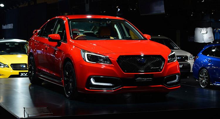Subaru Warms Up Legacy B4 Blitzen Concept for Tokyo Auto Salon [w ...