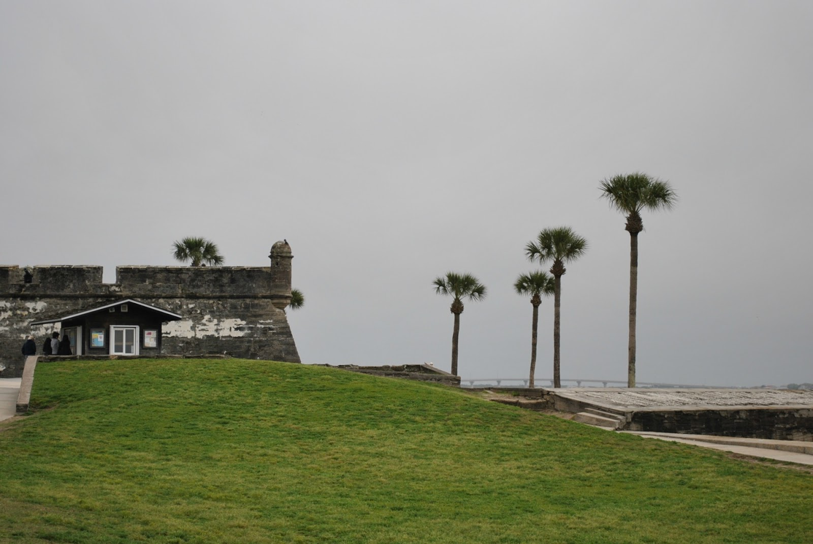 Castillo de San Marcos in St. Augustine on a foggy morning.