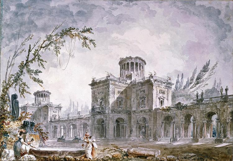 Hubert Robert - Architectural Fantasy 1760