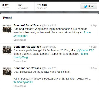 Bondan Prakoso and Fade 2 Black vakum, Rezpector bubar? Miz Tia Respect