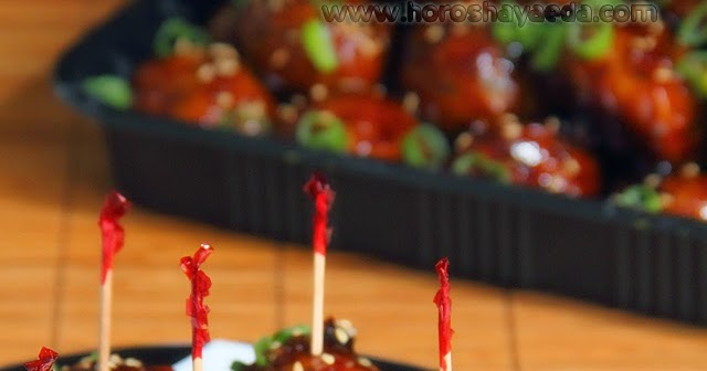 Кисло-сладкие азиатские фрикадельки из свинины