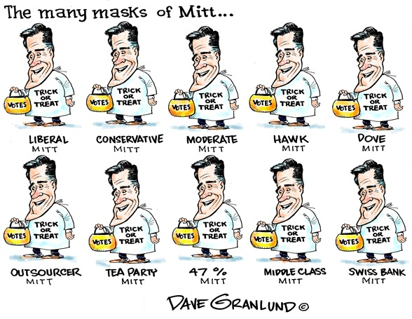 Mitt Romney Cartoon,Happy Halloween Cartoon,Romney cartoon