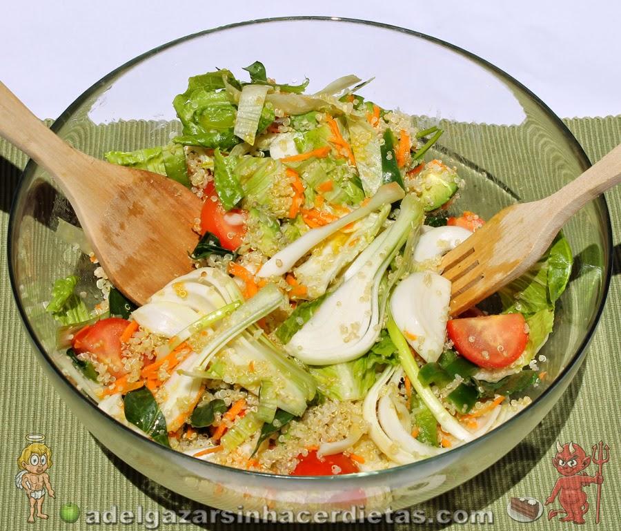 Ensalada de quinoa o quinua adelgazar sin hacer dietas - Ensaladas con pocas calorias ...