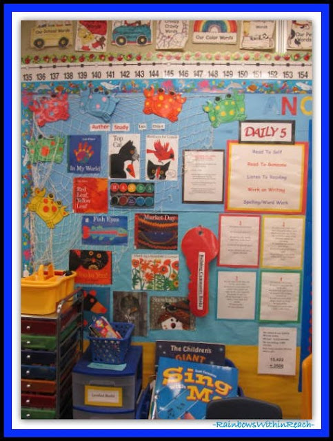 Kindergarten Focus Wall (Classroom Decor RoundUP at RainbowsWithinReach)