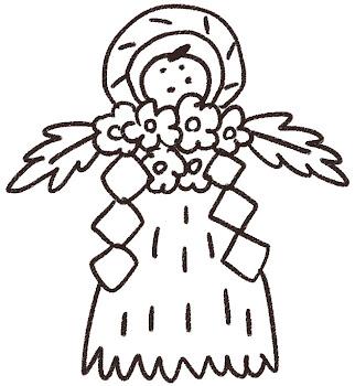 しめ飾りのイラスト(お正月) 線画