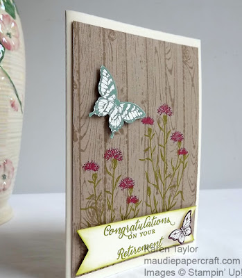 Stampin' Up! Wild About Flowers retirement card