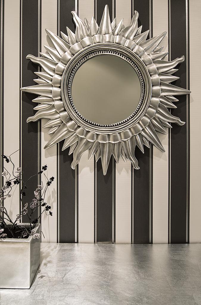 Decoraci n f cil el rey sol transformado en espejo for Espejos de diseno para entradas