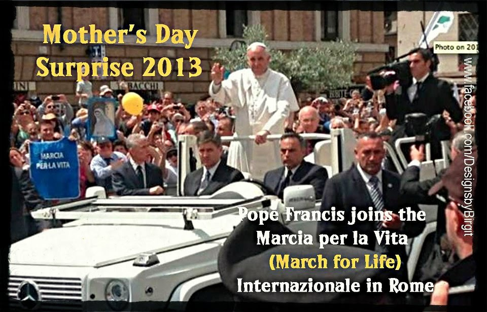 """Pope Francis """"…our brothers and sisters whose life is sacred and"""