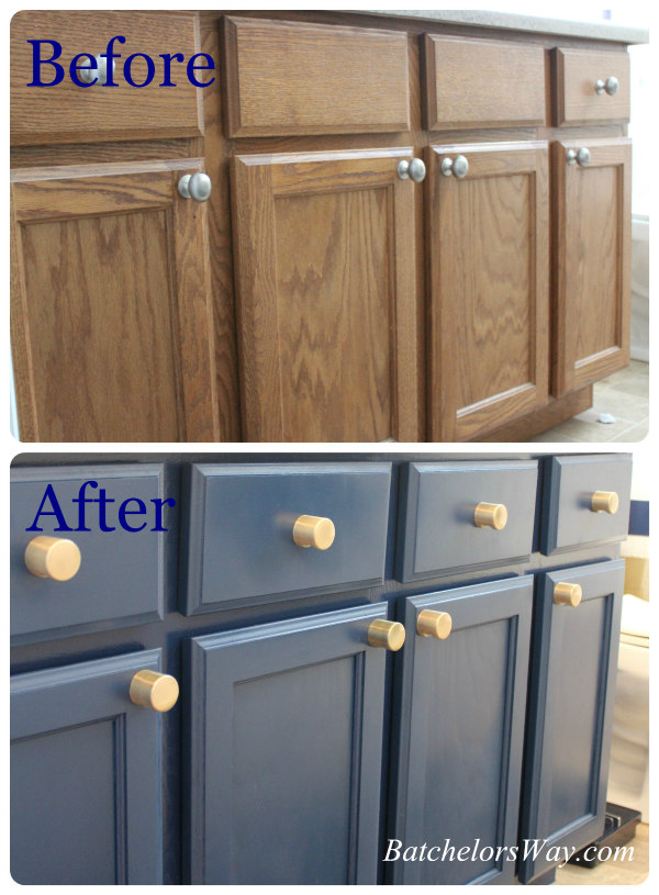 plain orange oak - Bathroom Cabinets Before And After
