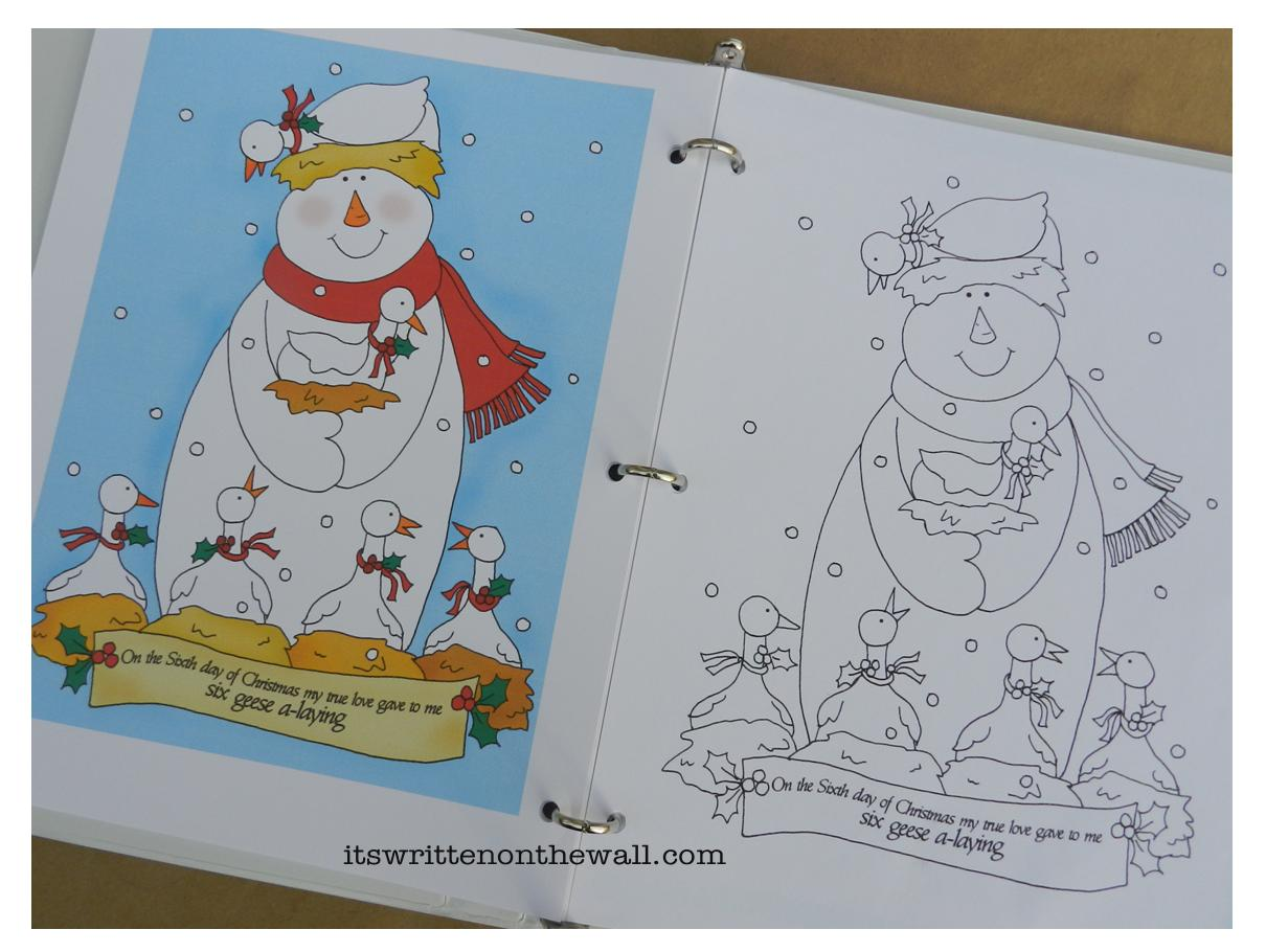 freebie christmas coloring book 12 days of christmas for the kids