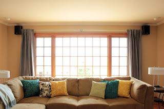 Cortinas para janelas grandes