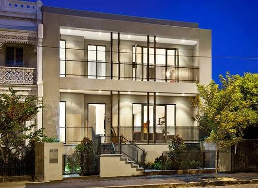Tampak Depan Rumah Mewah dan Minimalis di South Yarra Australia