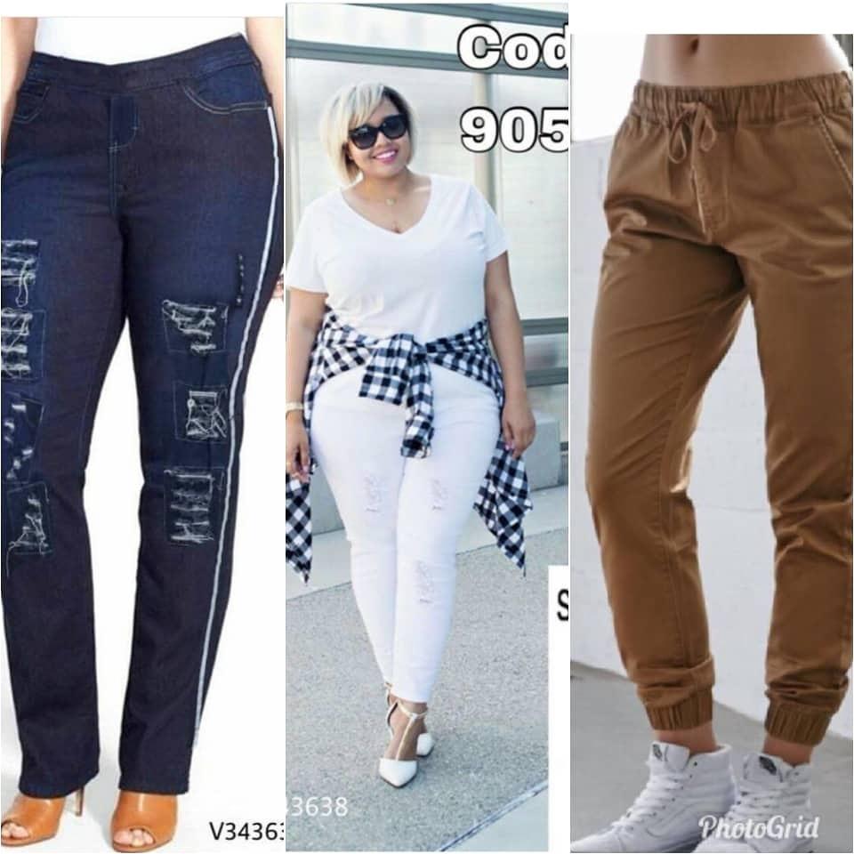 Pelbagai koleksi pakaian casual plus size.