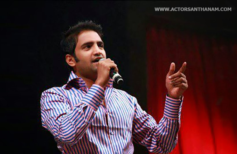 santhanam hairstyle