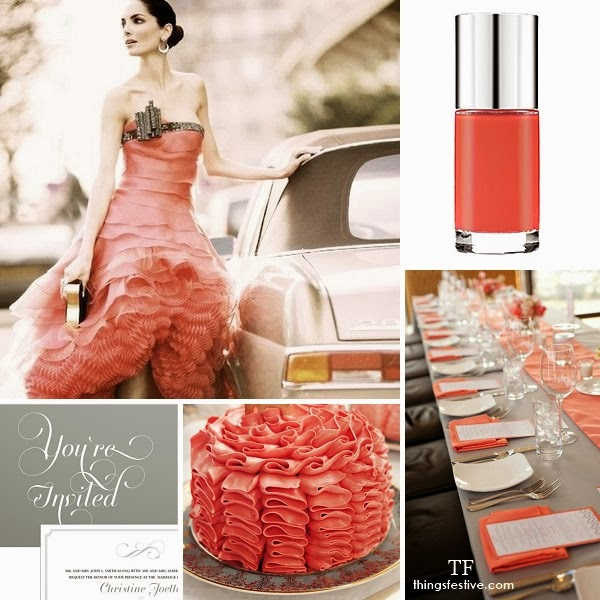 pantone cayenne wedding