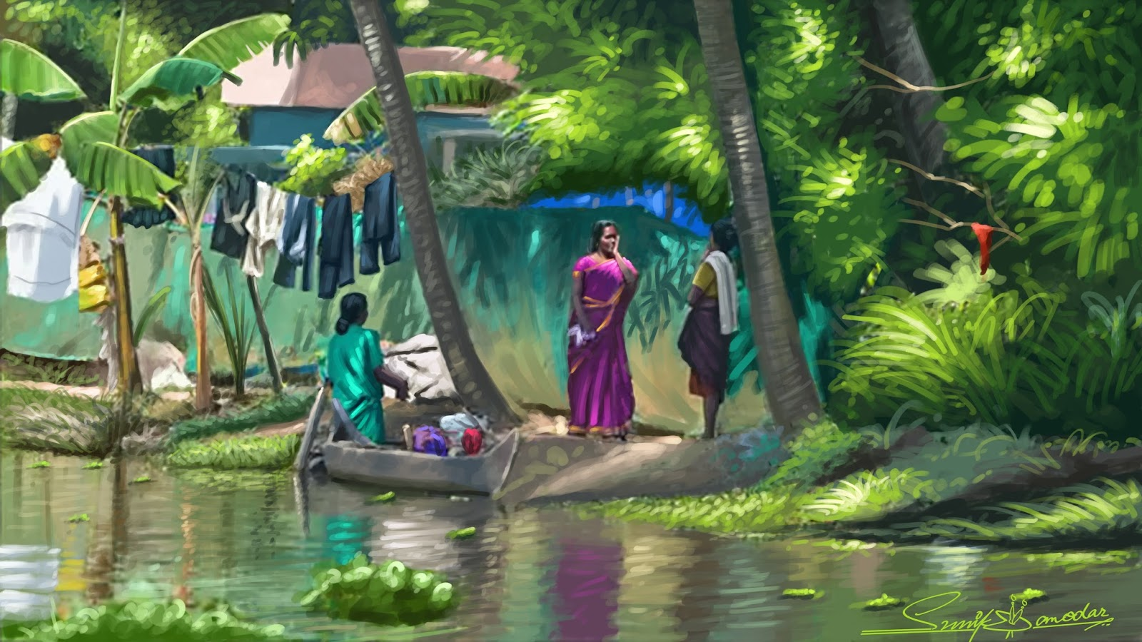 Paintings for sunil damodaran september 2015 for Buy kerala mural paintings online