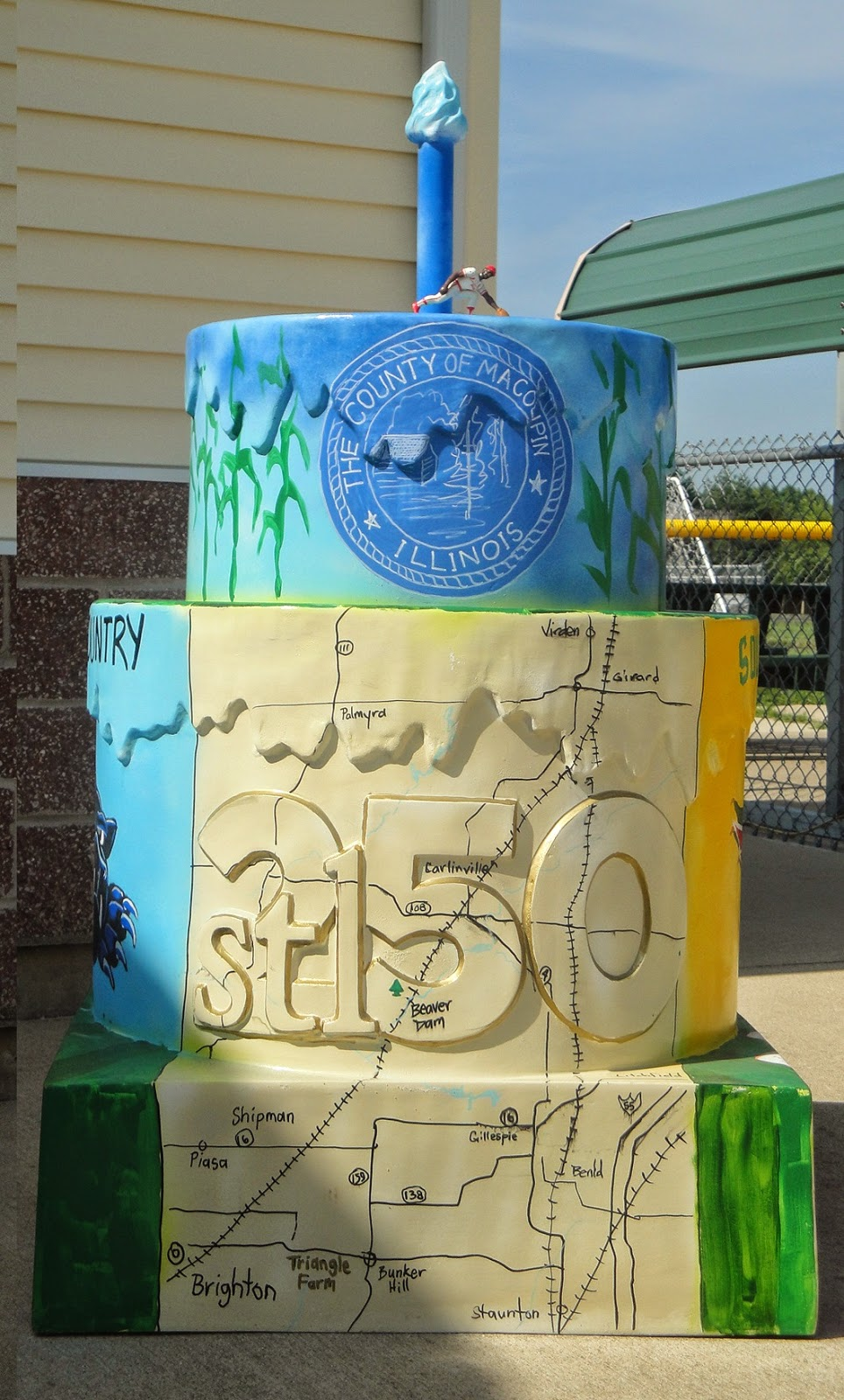 Illinois/macoupin county/brighton - My Final Illinois Cake Or So I Think That Is Assuming That The Remaining Four Cakes Are In Missouri As I Write This On July 15 2014 There S 4 More