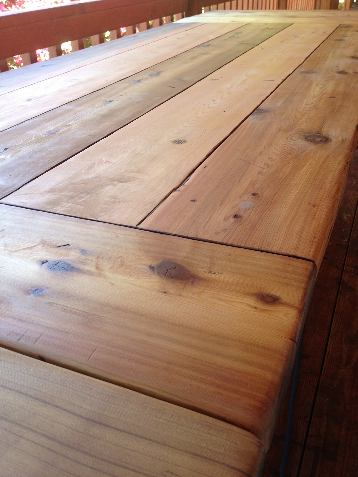 The polish carpenter 10 foot long cedar table with for 10 foot long table