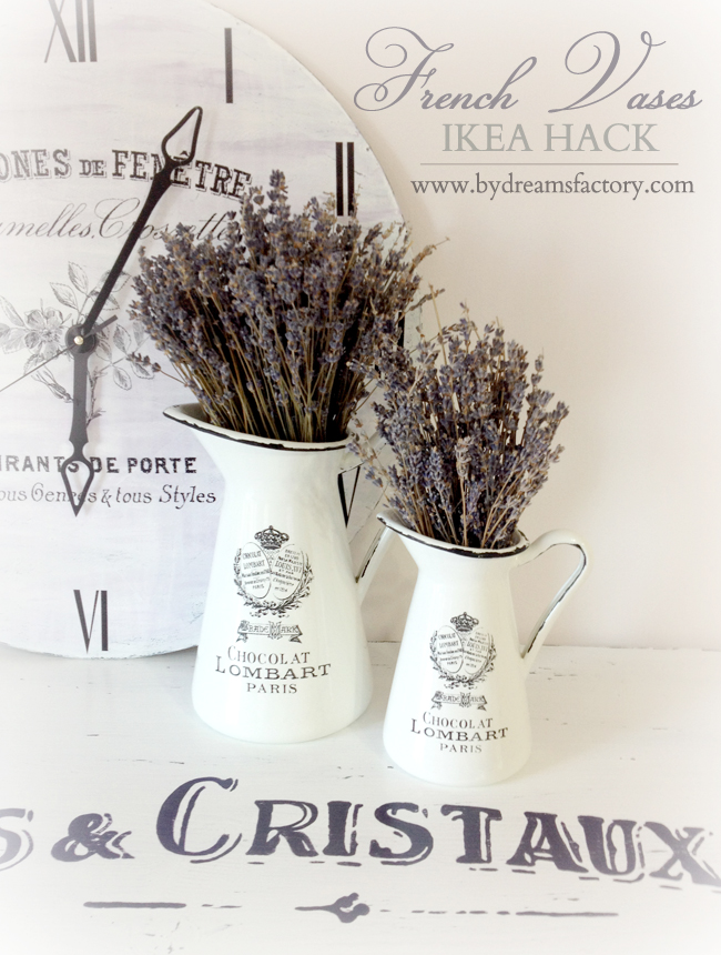 DIY: French Vases (Ikea hack) / Tutorial: Vaze frantuzesti (transformare Ikea)