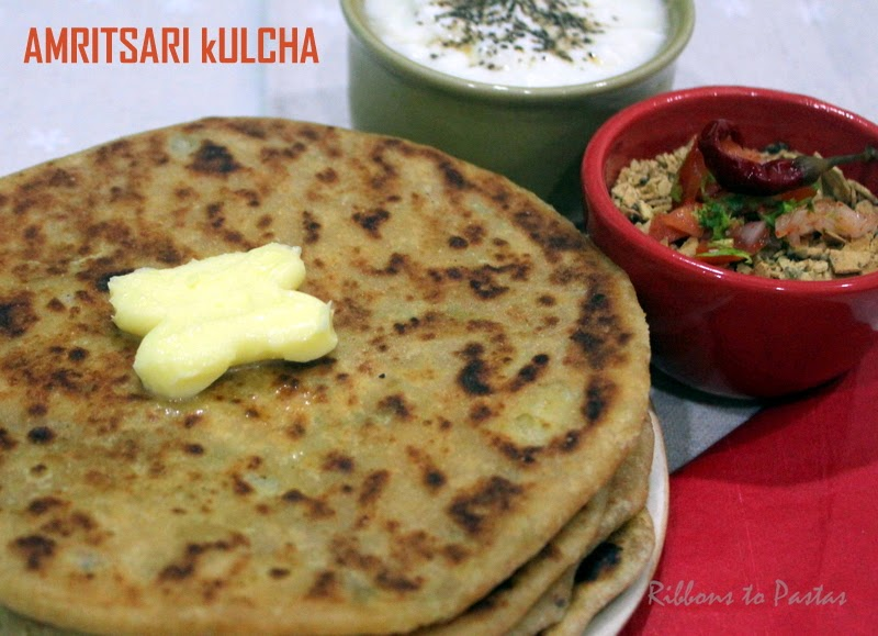 Amritsari kulcha for indian cooking challenge ribbons to for Amritsari cuisine
