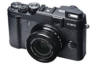 Fotografia in anteprima della Fujifilm X20 nella colorazione nera