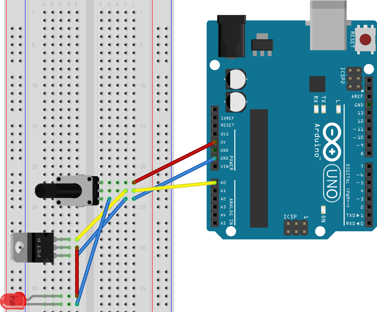 Hacking electronics with pots and LED strip | Electrons Free