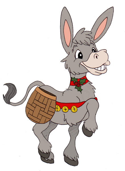 Christmas Donkey Dominic The Italian Pictures to Pin on Pinterest ...