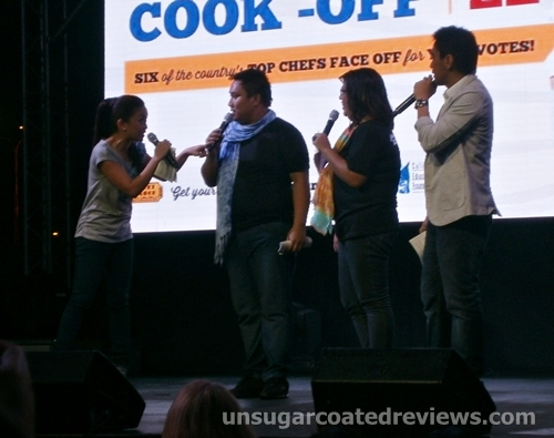 Tuesday Vargas, Ramon Bautista, and co-hosts at the Celebrity Chef Cook-off (Manila Food and Wine Festival 2013)