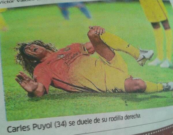 Errores en periodismo deportivo, Carles Puyol, Barça