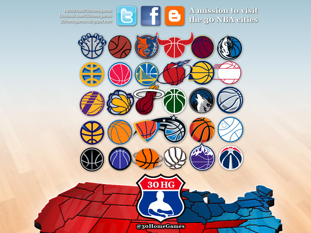 Basketball Nba Map Logos