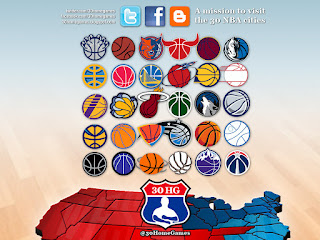 nba map, logos, basketball