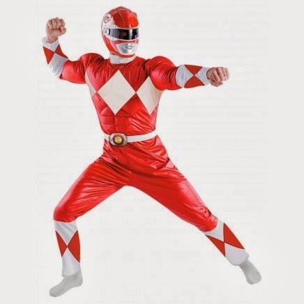 Disfraz Musculoso de Power Ranger Rojo