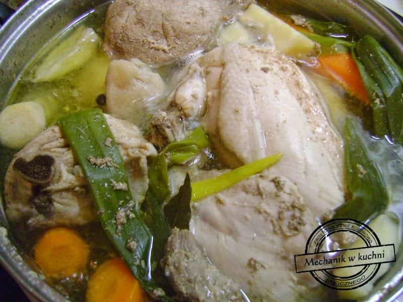 Potrawka z kurczaka na pikantnie mechanik w kuchni