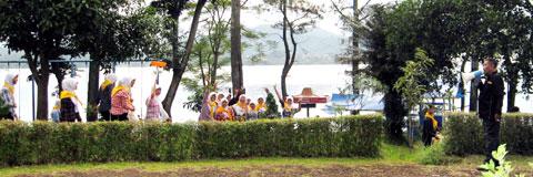 Opsih Peserta Kemah Terpadu di Wisata Wadukdarma