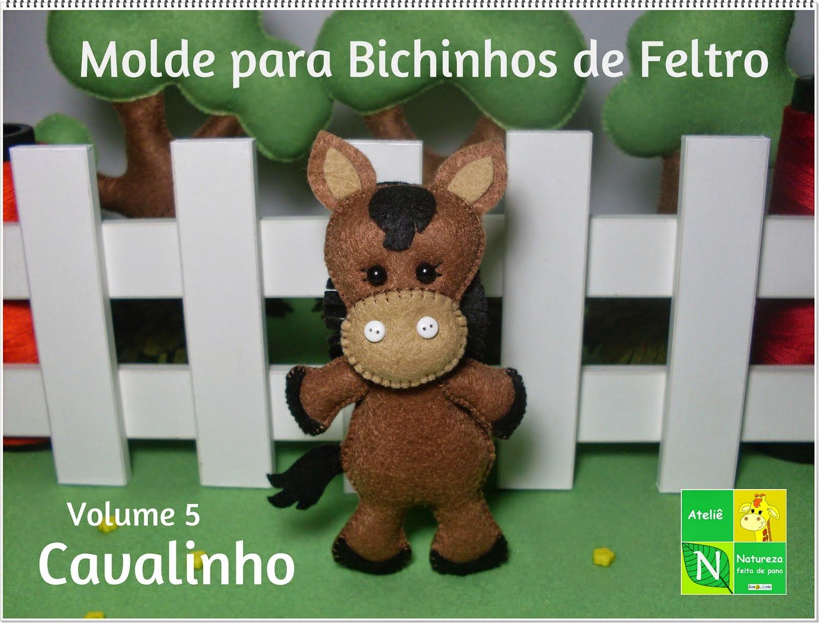 Apostila Digital/Moldes para Bichinhos de Feltro Volume 5 Cavalinho