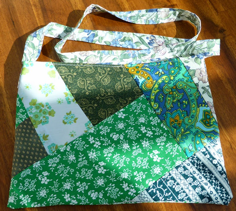how to make a lined peg bag