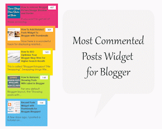Most Commented Posts With Numbers Display For Blogger