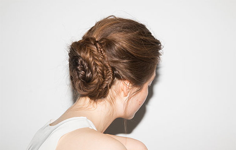 Braid bun from Into the Gloss