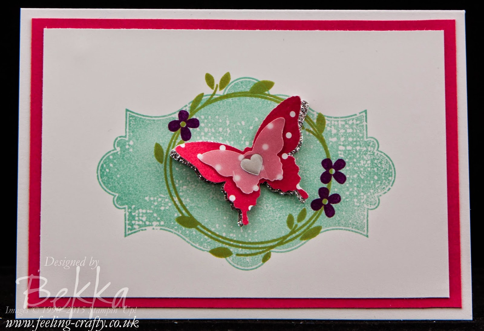 Beautiful Butterfly Card For Any Occasion Using Stampin' Up! UK Products - get them here