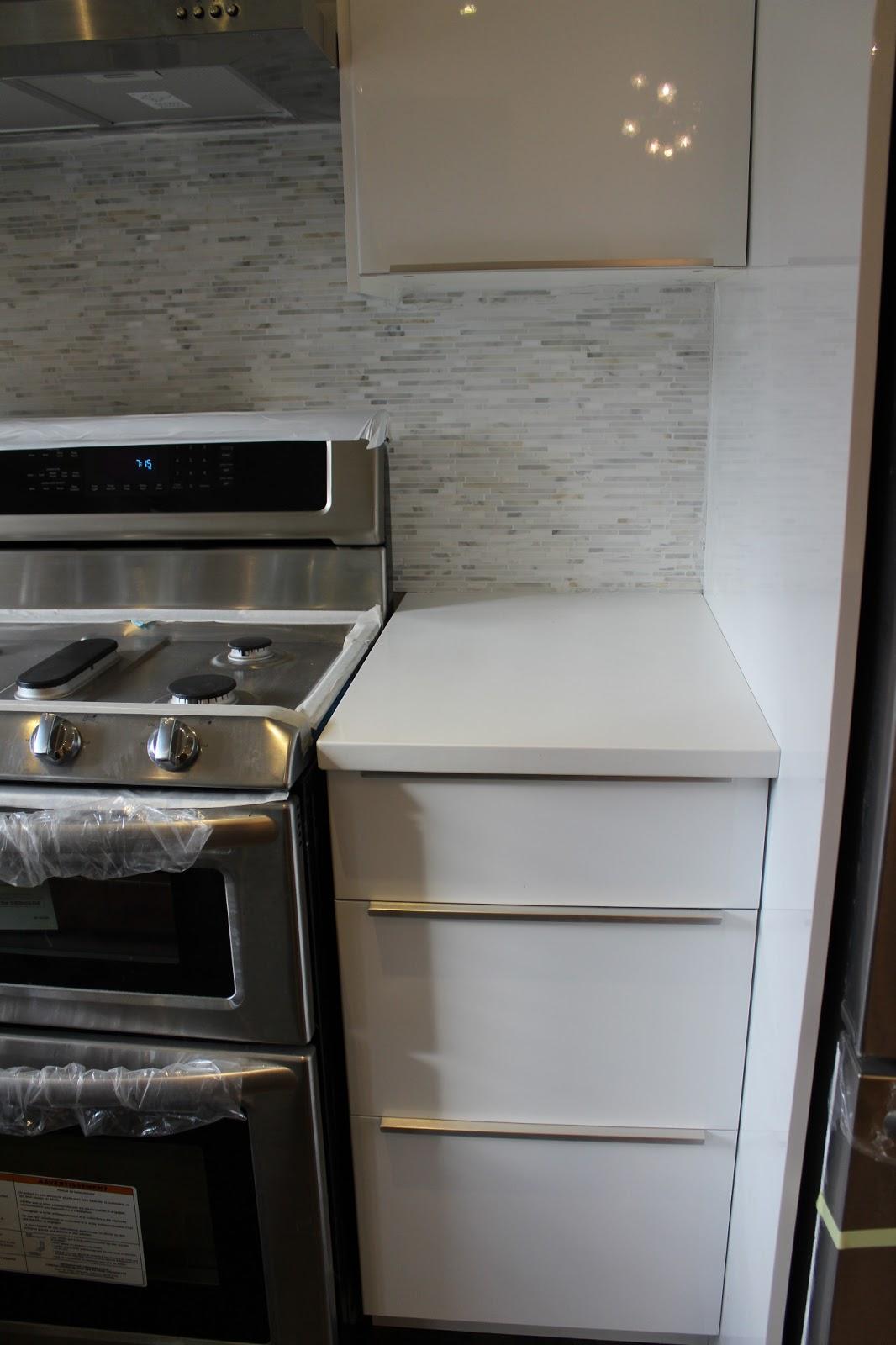 pretty swanky digs ikea abstrakt white high gloss kitchen in progress. Black Bedroom Furniture Sets. Home Design Ideas