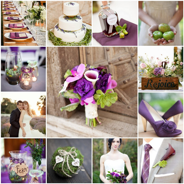 purple and green wedding